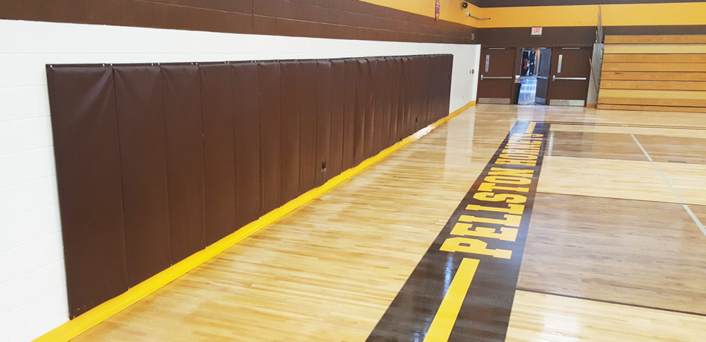 Gym Cove colorful and durable angle base solutions for gymnasiums